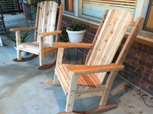 Cedar Rocking Chairs
